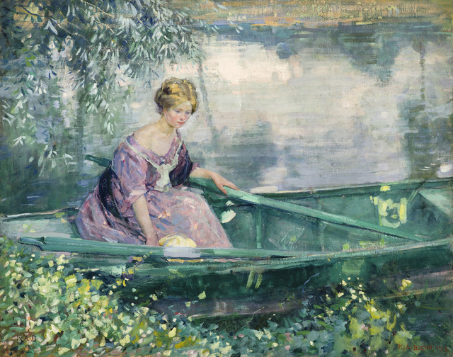 , 'Young Lady in a Rowboat,' 1912, Godel & Co.