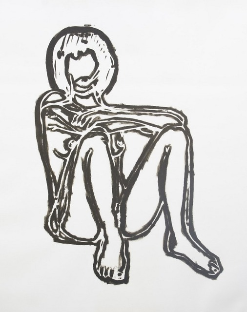 , 'Monica Sitting on Elbows and Knees,' 1991, Robert Fontaine Gallery