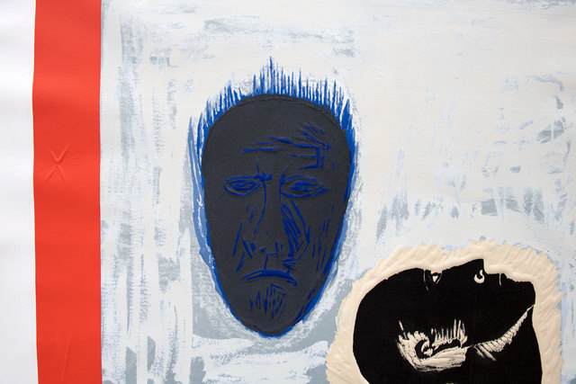 Mimmo Paladino, 'Ibico', 1990, Print, Screenprint, etching, carborundum and embossing, Goldmark Gallery