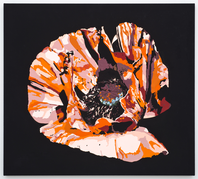 , 'Vortex Flower (orange poppy),' 2016, Lora Reynolds Gallery