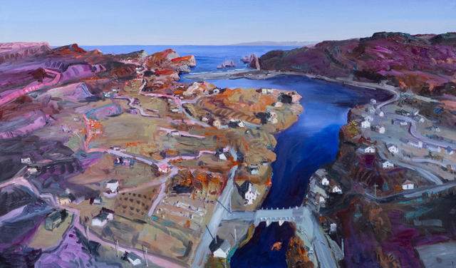 John Hartman, 'Salmon Cove from Above', 2017, Christina Parker Gallery