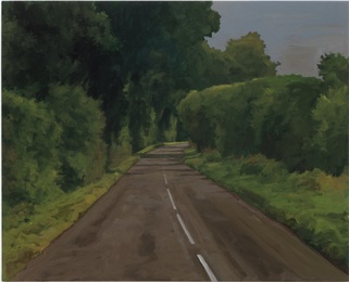 The Painter on the Road in Summer