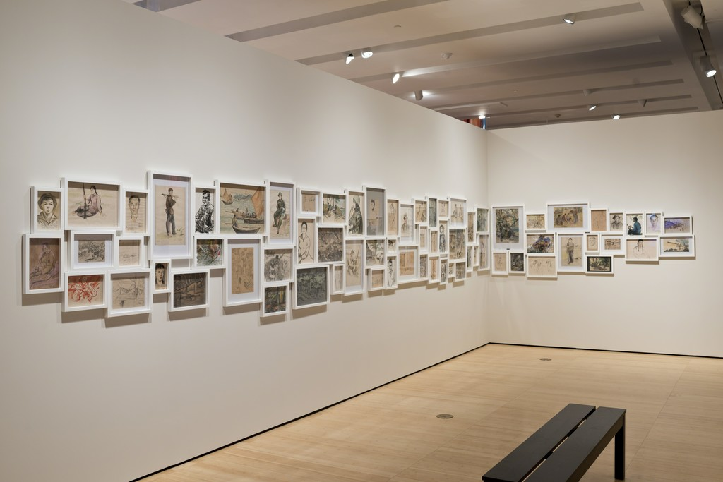 "Installation view of Dinh Q. Le's ""Light and Belief: Sketches of Life From the Vietnam War"" (2012). Photography by Perry Hu, courtesy of Asia Society Museum."
