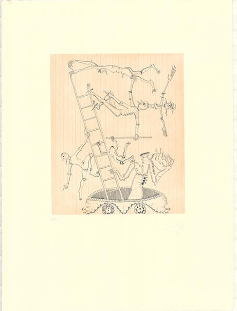 Joan Ponç, 'Equilibrio', 1973, Print, Etching with aquatint, Sylvan Cole Gallery