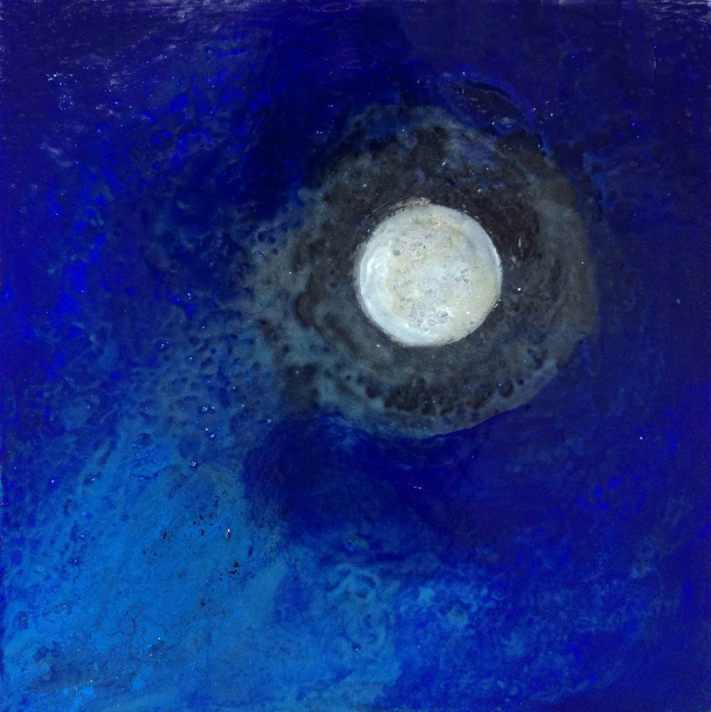 Margareth Dorigatti, Luna/Mond 50, 2016, mixed media on canvas, 40x40 cm