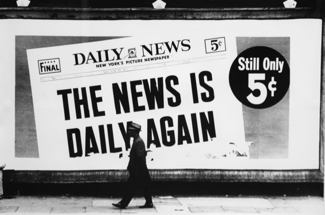 , 'Daily News,' 1963, Robert Berman Gallery