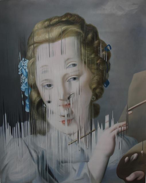 , 'Ejercicio de distorsión sobre Ritratto di Giovane Pittrice de Rosalba Carrera,' 2018, MAIA Contemporary