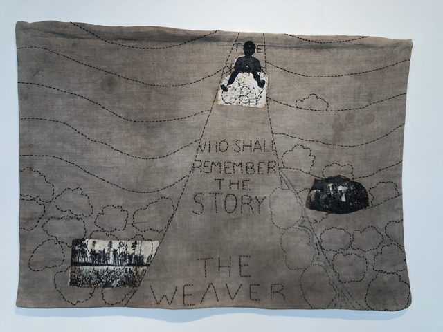 Karen Hampton, 'Who Shall Remember', 2019, Textile Arts, Vintage linen, mixed media transfer, natural dye, hand stitching, Fritz + Kouri