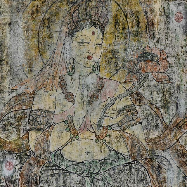 , '粉衣持莲观音Avalokitesvara With Lotus,' ca. 2016, Hangzhou Calligraphy and Painting Society