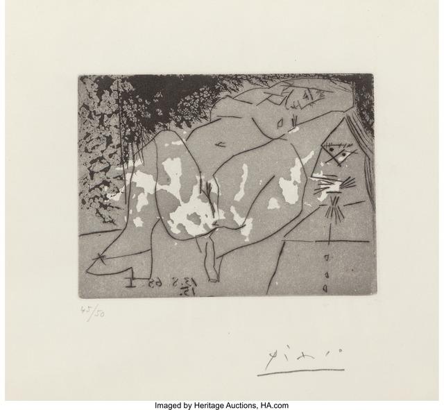 Pablo Picasso, 'Jeune Femme et , Pl. 272 from Series 347', 1968, Heritage Auctions