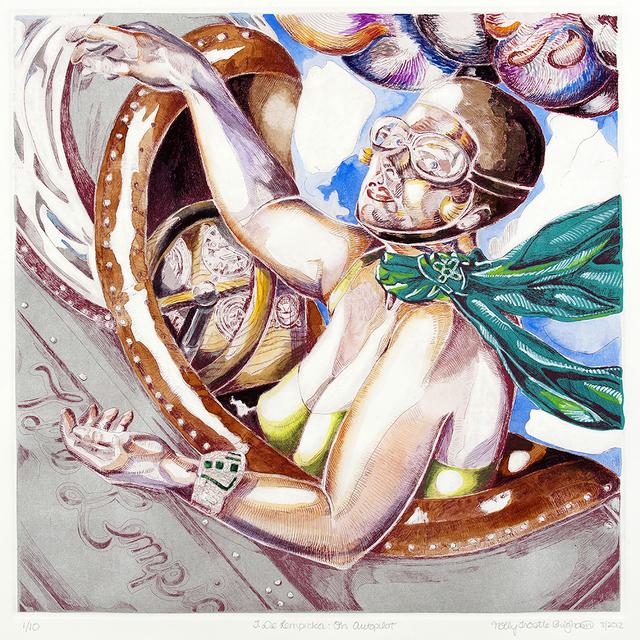 , 'T. de Lempicka on Autopilot (magenta ink),' 2011, Somerville Manning Gallery