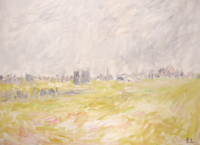 Eugene Leake, 'Winter Farm - Winter Light', 1989, Painting, Oil on canvas, C. Grimaldis Gallery