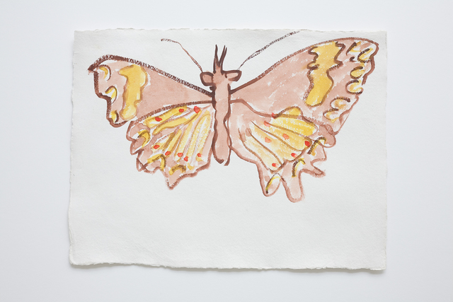 , 'Brown / Yellow Butterfly,' 2006, Galerie Reinhard Hauff