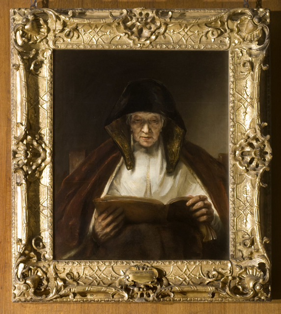 , 'An Old Woman Reading,' 1655, The National Gallery, London