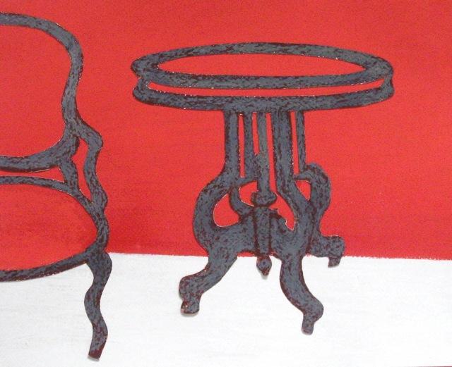 , 'Grey Table, Grey Chair ,' 2012, Susan Eley Fine Art