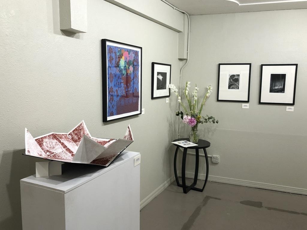 Main Gallery south wall corner