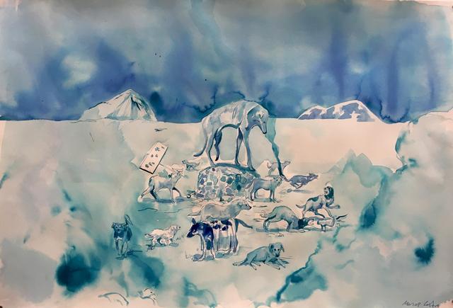 , 'Nuevos dioses (Huitzi),' 2017, Machete