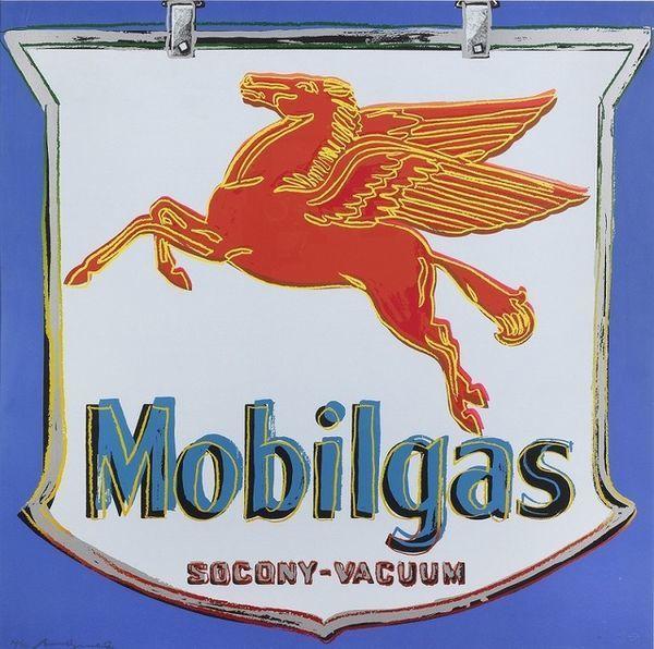 Andy Warhol, 'Ads: Mobilgas', 1985, Print, Silkscreen on Lenox Museum Board, Taglialatella Galleries