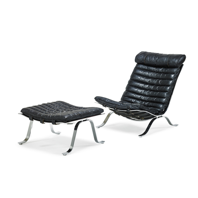 'Style Of Arne Norell, Lounge Chair and Ottoman, Sweden', 1970s, Rago/Wright