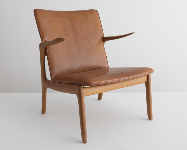 , 'Rare lounge chair in natural Nigerian goatskin,' 1951, R & Company