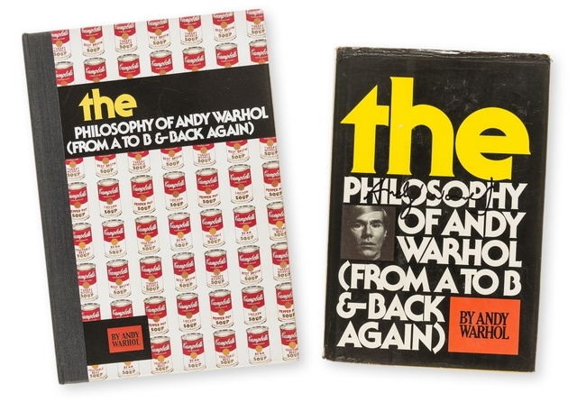Andy Warhol, 'A Philosophy of Andy Warhol', 1975, A rare signed copy of 'A Philosophy of Andy Warhol', Forum Auctions