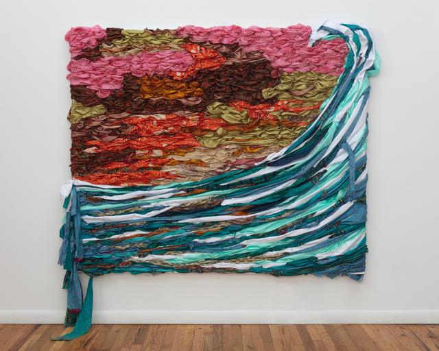 Suchitra Mattai, 'Like no Other (tsunami)', 2020, Painting, Vintage saris and fabric, K Contemporary