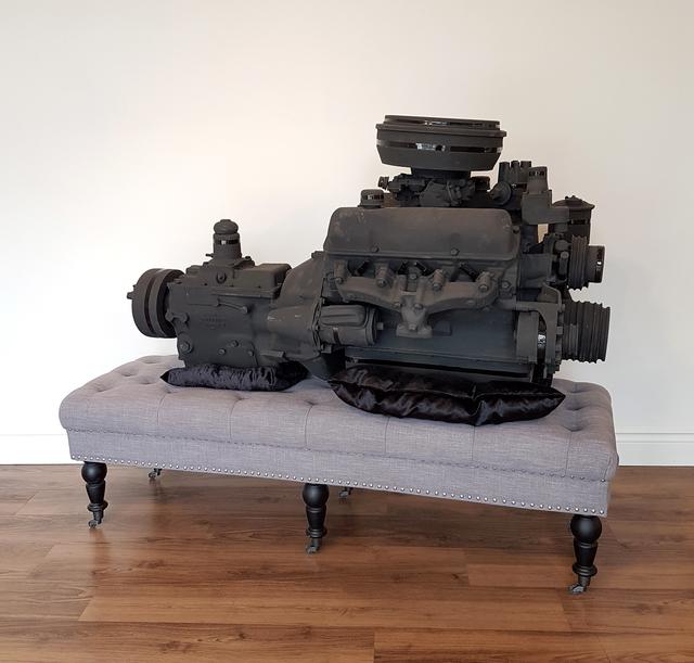 Clint Neufeld, 'Black Betty', 2018, Sculpture, Ceramic, wood, cloth, VIVIANEART