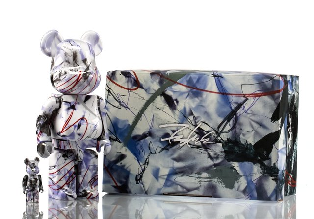 BE@RBRICK X Futura, 'Purple Marble 400% and 100% (set of two)', 2017, Heritage Auctions