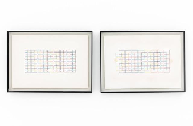 , 'Estructuras espectro del color: fuerzas de gravedad (left) / Estructuras espectro del color: fuerzas en reposo (right,' 1983, Casado Santapau