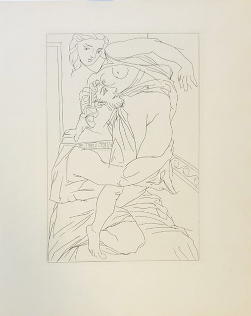 Pablo Picasso, 'Cinésias et sa Myrrhine', 1934, Print, Original etching on BFK Rives paper, Galerie d'Orsay