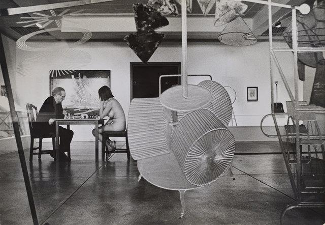 , 'Duchamp Playing Chess with a Nude (Eve Babitz), Duchamp Retrospective, Pasadena Art Museum,,' , Robert Berman Gallery