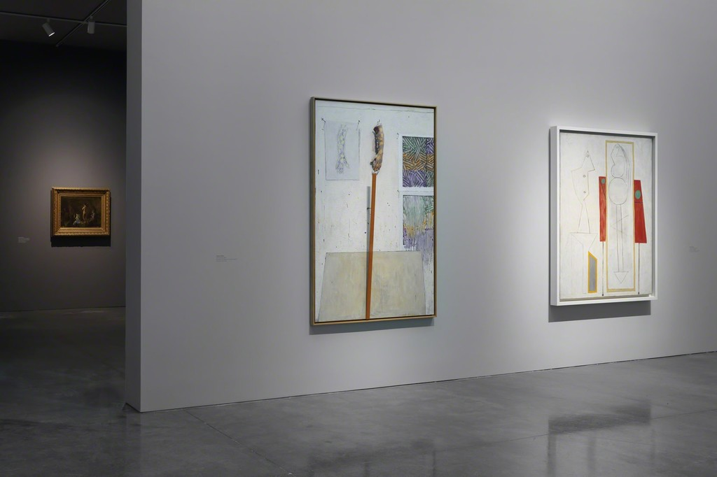 Near left to right: © Jasper Johns/Licensed by VAGA, New York; © 2015 Estate of Pablo Picasso/Artists Rights Society (ARS), New York 