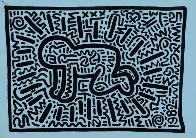 Keith Haring, 'radiant child,' 1982, Galerie Laurent Strouk