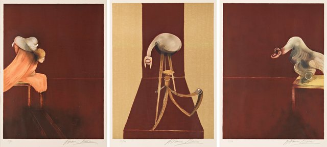 Francis Bacon, 'Second Version of Triptych 1944, (Small Version)', 1989, Lougher Contemporary