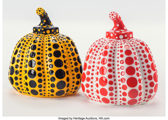 Yayoi Kusama, 'Red and Yellow Pumpkin (two works)', 2013, Heritage Auctions