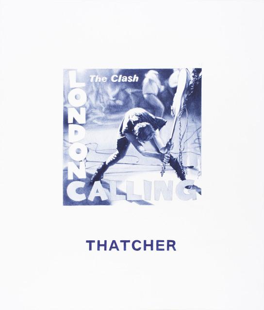 , 'Nel blu dipinto di blu (Thatcher),' 2015, MLF | MARIE-LAURE FLEISCH