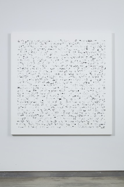 Manfred Mohr, 'P-049/621290', 1970-drawn to canvas in 1990, bitforms gallery