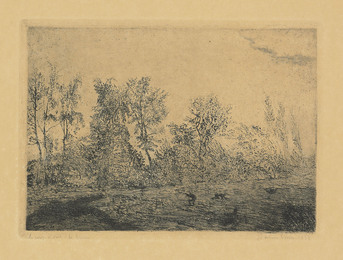 Le coup de vent à la lisière (Squall at the edge of the woods)