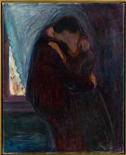 , 'Kyss (Kiss),' 1897, Munch Museum