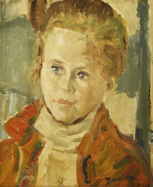 Ronald Ossory Dunlop, 'PORTRAIT OF A YOUNG WOMAN, BUST LENGTH', Painting, Oil on canvas, Sworders