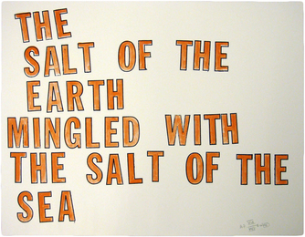 THE SALT OF THE EARTH MINGLED WITH THE SALT OF THE SEA