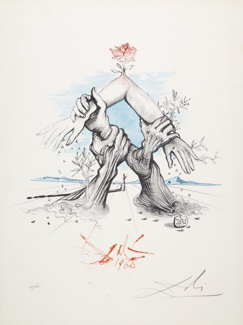 Salvador Dalí, 'Five Continents', 1966, Print, Photolithograph in colors on Fabrico Classico paper, Heritage Auctions
