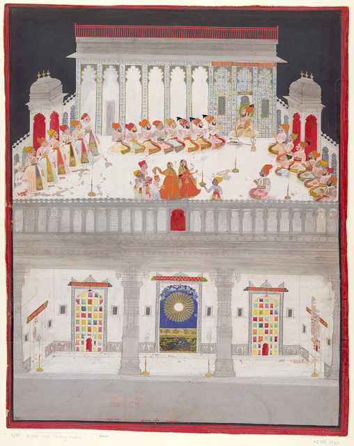 'Maharana Ari Singh II in Durbar', 1765, National Gallery of Victoria