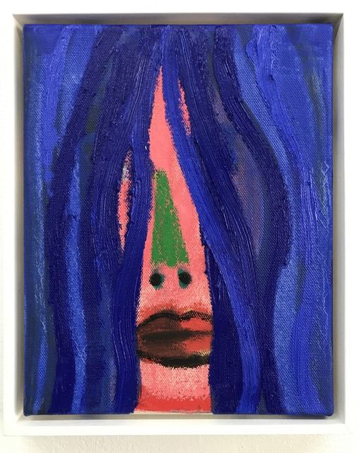 , 'Blue Wig,' 2017, Luis De Jesus Los Angeles