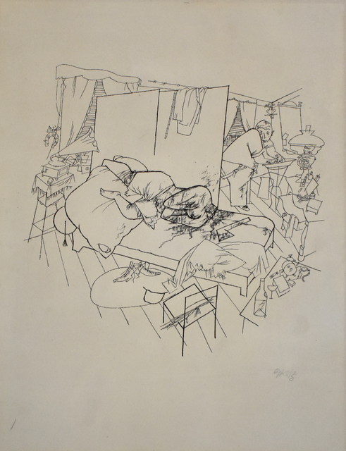 George Grosz, 'Sex Murder in Ackerstrasse, from: Ecce Homo | Lustmord in der Ackerstraße: Ecce Homo ', 1916, Gilden's Art Gallery