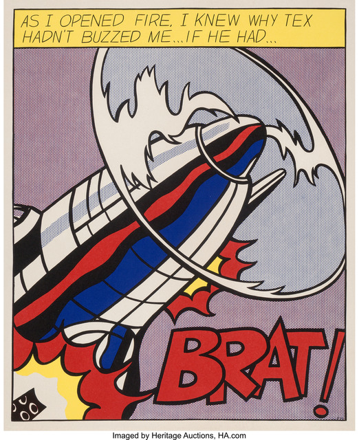 Roy Lichtenstein, 'As I Opened Fire, triptych', 1966, Heritage Auctions