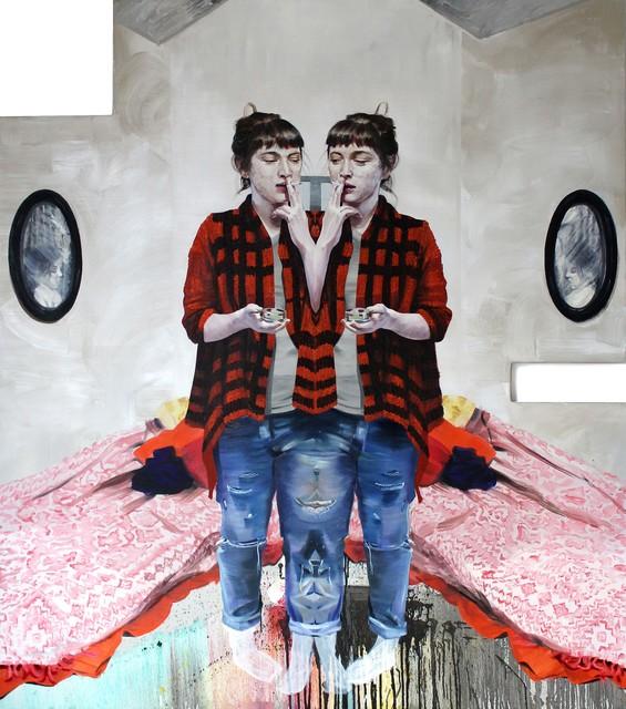 , 'Twin bed,' 2016, Wizytująca
