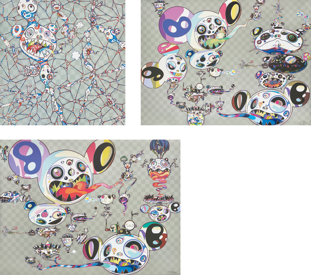 Takashi Murakami, 'We Are Destined to Meet Someday! But for Now, We Wander in Different Dimensions; We Are Destined to Meet Someday! But for Now, We Wander in Different Dimensions; and Hands Clasped', 2015-2016, Phillips