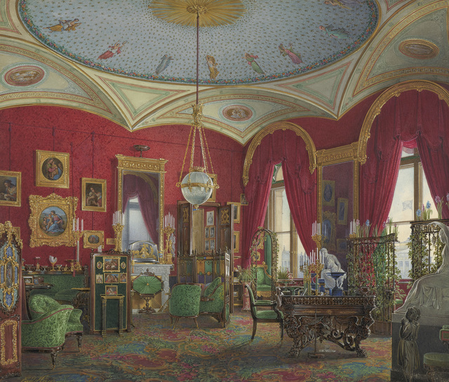, 'The Study of Empress Alexandra Fyodorovna in the Winter Palace,' 1858, The State Hermitage Museum