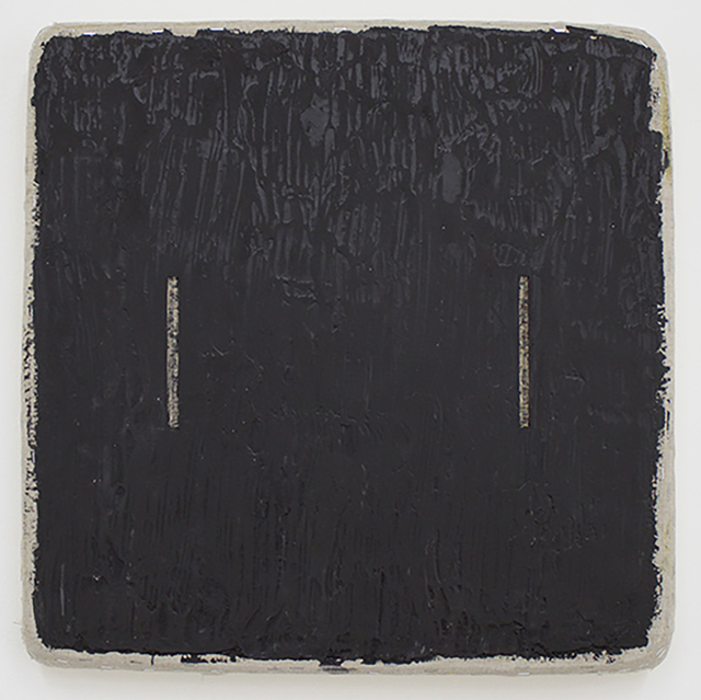 , 'Black wth Two Lines Removed,' 2017, Marc Straus